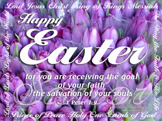 eCards Inspirational Christian Free RainDrops eCards – Easter Verses for Cards
